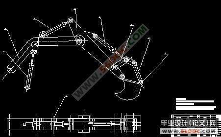 全液压挖掘机反铲工作装置传动机构设计(精品)图片
