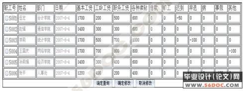 基于bs结构高校工资管理系统的设计(asp sql2000)