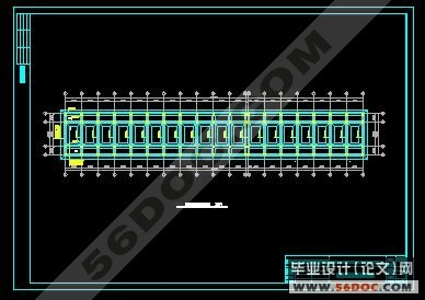 五层4400平米框架结构办公综合楼设计(含cad建筑图,结 六层3800平米