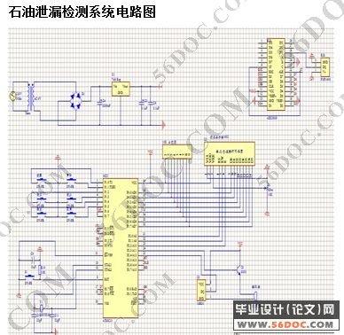 石油管道泄漏检测系统的设计(电路图+原理图+程序+cad