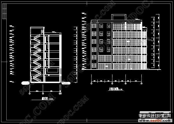 结构设 四层2400平米混凝土框架结构学校办公楼设计