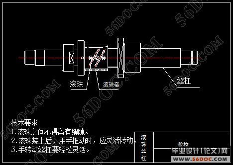 电火花机械体设计(主轴滚珠丝杠)