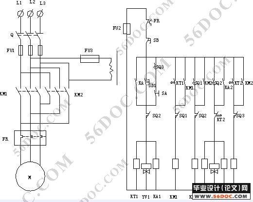 结构部分、电气控制与PIC控制部分和气压传动部分。 机械结构部分的设计主要包括对壶体夹持部分,使壶体模仿日常使用时上下移动部分和壶底的固定部分。首先,考虑水壶装满水后总重量约为2KG,壶体本身为硬质材料制成。设计中壶体的夹持部分应该提供一个相应大小的力,即能夹持壶体,带动它一起动作,又不能对壶体表面进行破坏。设计中选用膜片式夹紧气缸来对壶体进行夹紧,由于该夹紧装置在与虎体接触处使用橡胶材料制造,所以对壶体本身就有一定的保护作用。其次,模仿水壶日常使用时的上下移动,假使水壶夹紧后从原位向上提升180mm后开