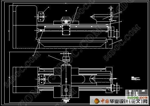 器与功率放大器一起控制步进电机转动,经齿轮减速后带动滚珠丝杠转动