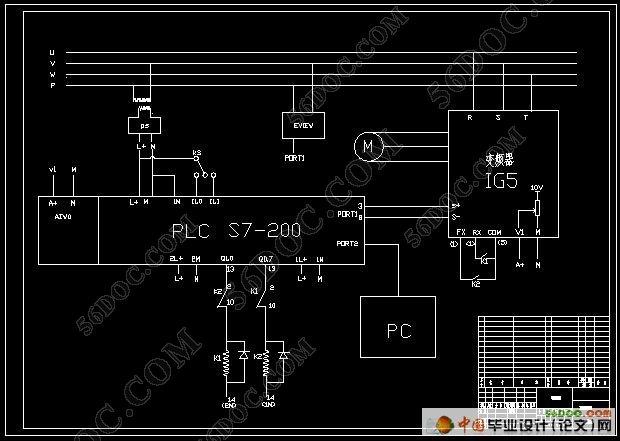变频器启动与正反转控制电路