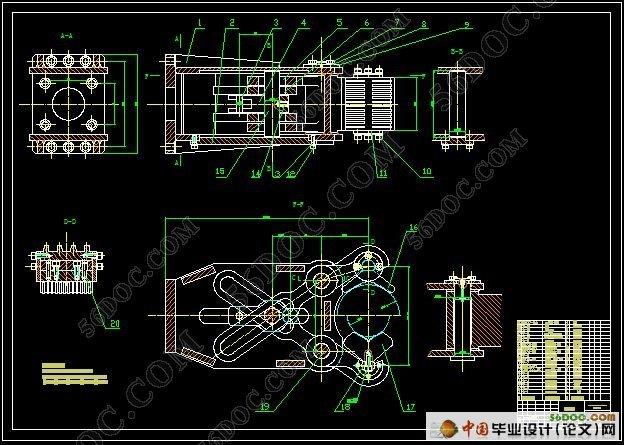 车床上料机械手结构设计