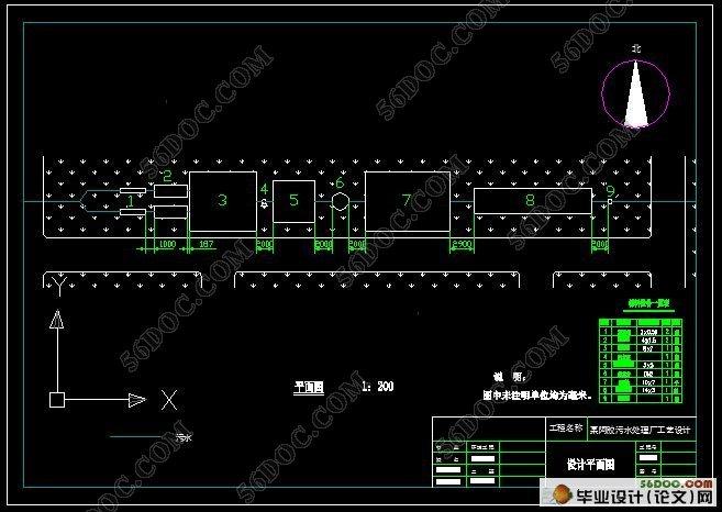 阿胶废水处理工艺流程设计(附cad图纸)