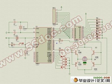 放大电路的驱动模块完成在主电路中对直流电机的控制